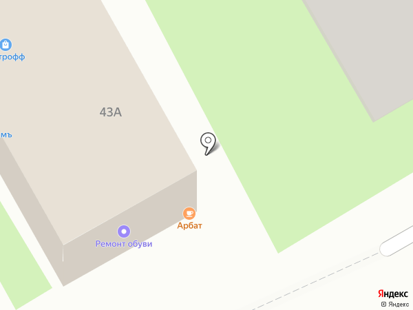 Киоск по ремонту обуви на карте Пушкино
