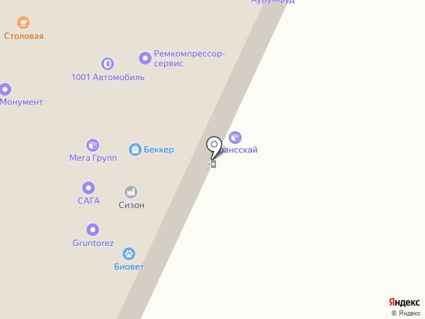 ВССТ на карте Москвы