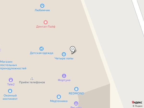Семейный пассаж на карте Реутова