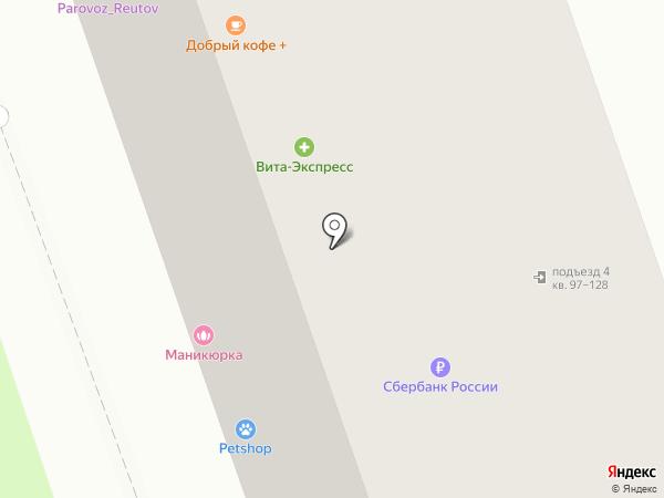 Мяско на карте Реутова