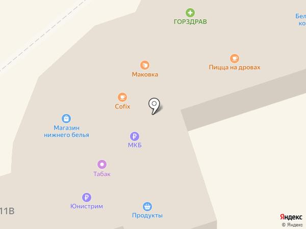 Магазин женского белья на карте Реутова
