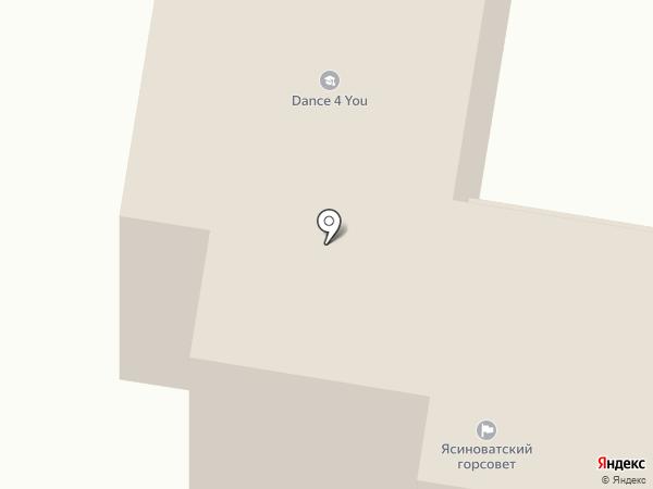Исполнительный комитет Ясиноватского городского совета на карте Ясиноватой