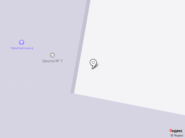Средняя общеобразовательная школа №7 на карте Реутова