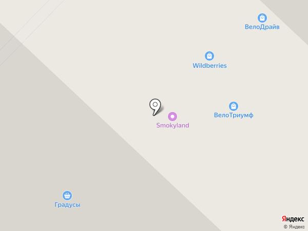 Велотриумф на карте Люберец