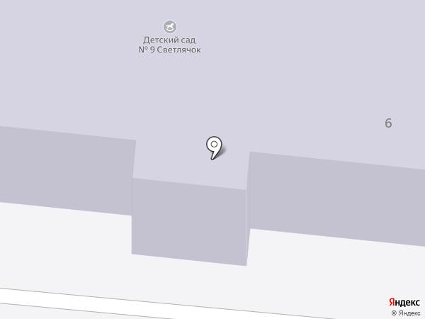 Детский сад №9, Светлячок на карте Реутова