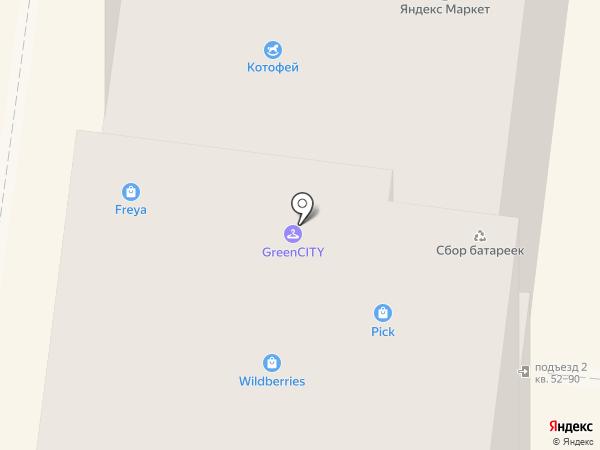 Котофей на карте Дзержинского