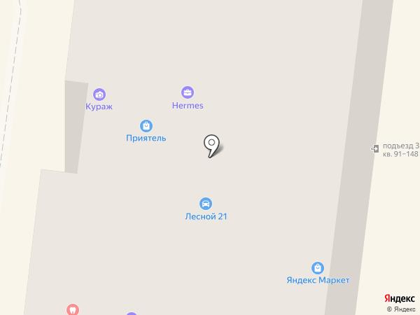 Кураж на карте Дзержинского