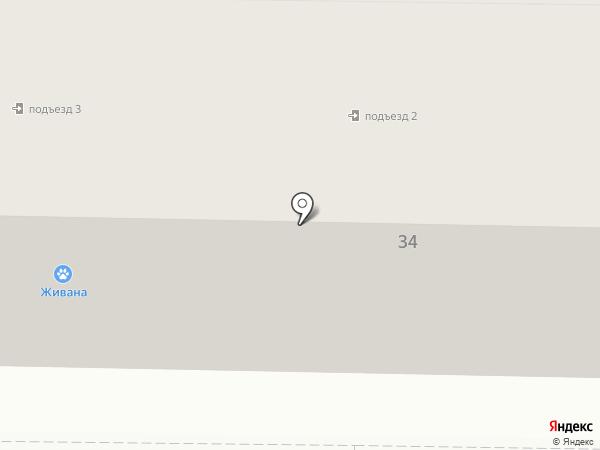Отделение связи №14 на карте Макеевки