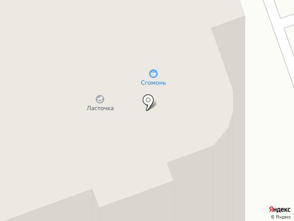 Ласточка на карте Реутова