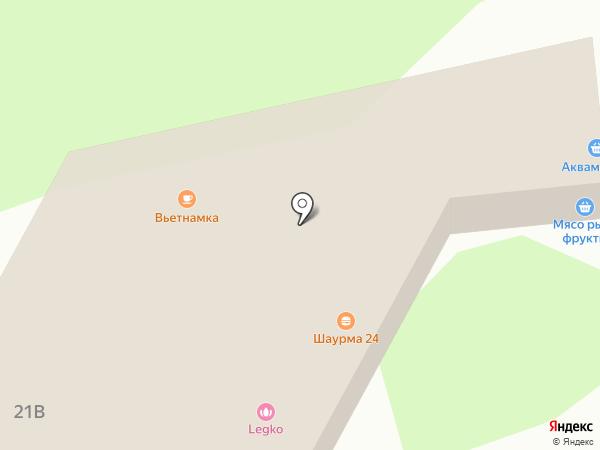 Акваматиба на карте Реутова