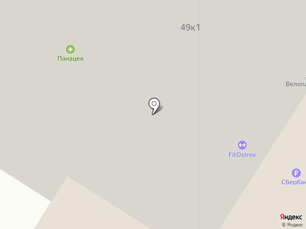 Зебра на карте Люберец