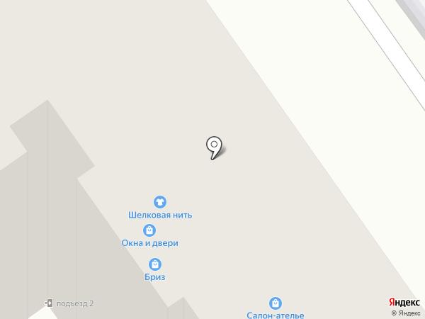 Шелковая нить на карте Старого Оскола