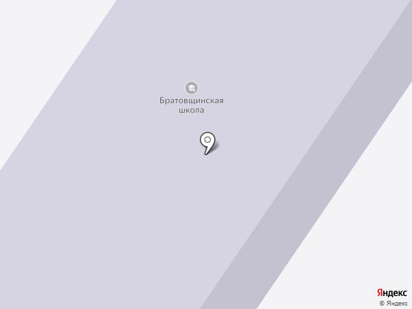 Братовщинская средняя общеобразовательная школа на карте Братовщиной