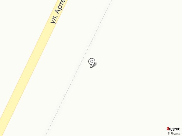 Магазин хлебобулочных изделий на карте Ясиноватой