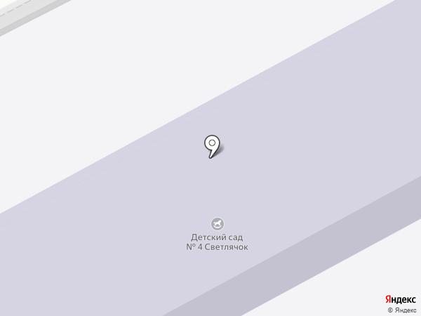 Детский сад №4 на карте Ясиноватой