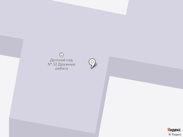 Детский сад №32, Дружные ребята на карте Старого Оскола