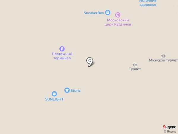 Л`Этуаль на карте Реутова