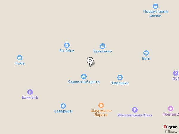 Банкомат, Московский Индустриальный Банк на карте Старого Оскола