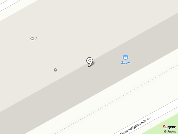 Эдем на карте Ясиноватой