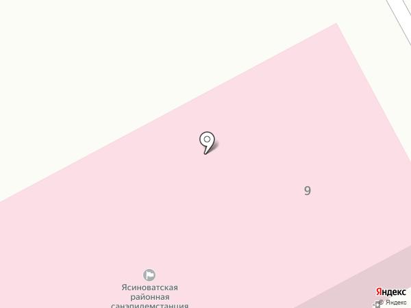Ясиноватское горрайонное управление государственной санитарно-эпидемиологической службы на карте Ясиноватой