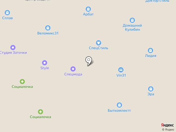 Банкомат, КБ Национальный стандарт на карте Старого Оскола