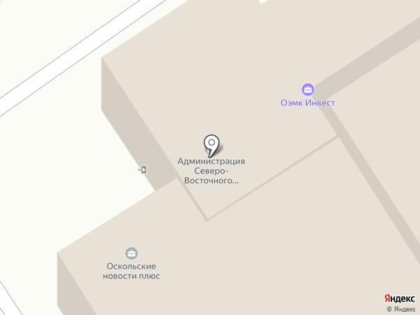 СДЮШОР им. А. Невского на карте Старого Оскола
