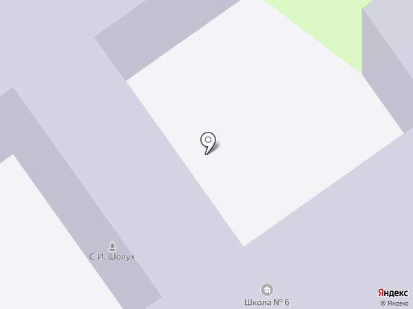 Основная общеобразовательная школа №6 на карте Старого Оскола