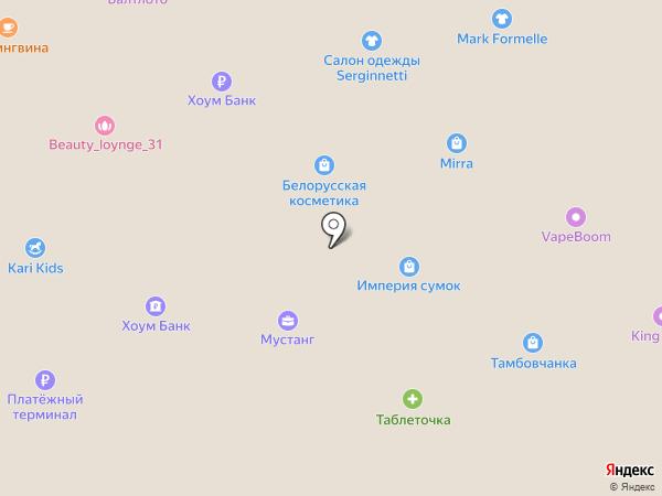 Амиталь на карте Старого Оскола