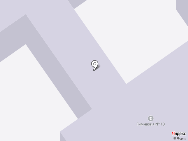 Гимназия №18 на карте Старого Оскола