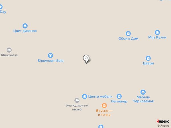 Перекресток на карте Люберец