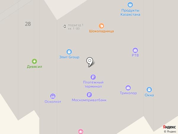 Осколнэт на карте Старого Оскола