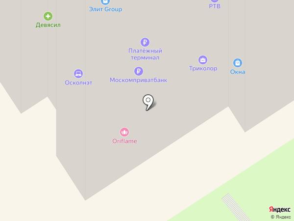Осколнэт, ЗАО на карте Старого Оскола