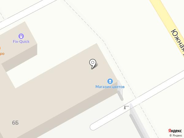 Киоск по продаже цветов на карте Люберец