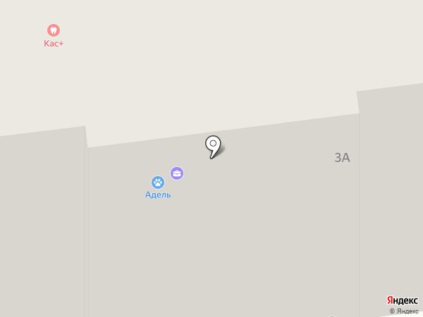 Адель на карте Ивантеевки