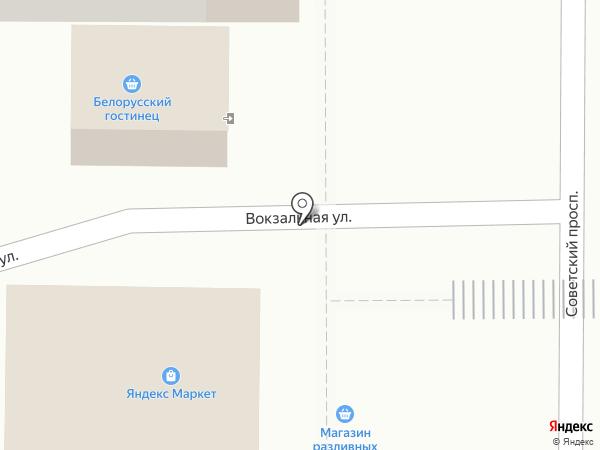 Белорусский гостинец на карте Ивантеевки
