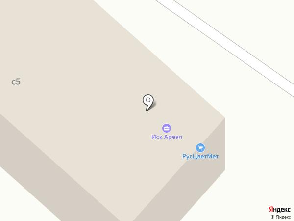 Ареал на карте Люберец