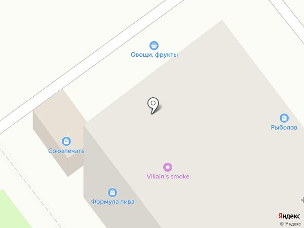 Киоск по продаже фруктов и овощей на карте Лыткарино