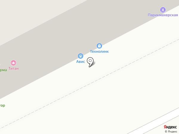 Титан на карте Люберец