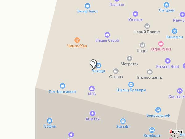 Пет-Континет на карте Ивантеевки