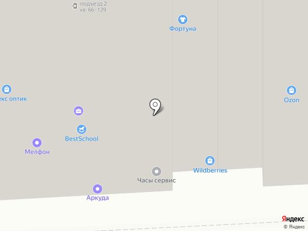 Тест Лайф на карте Балашихи