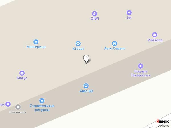 Автотехцентр на ул. Толмачёва на карте Ивантеевки