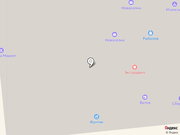 Новоселки на карте Ивантеевки