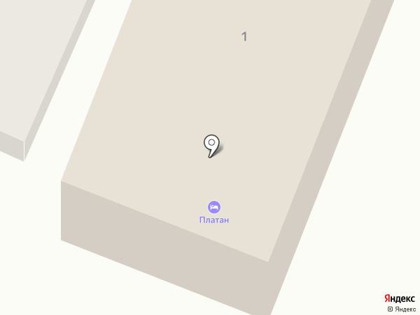 Платан на карте Геленджика