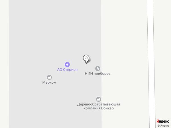 Войкар на карте Лыткарино