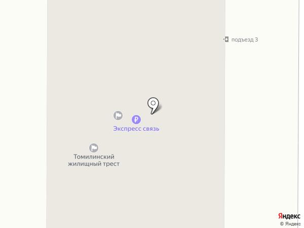 Томилинская Новь на карте Томилино