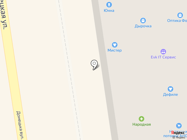 Магазин обуви на карте Макеевки