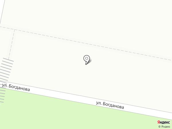 Автостоянка на ул. Богданова на карте Ивантеевки