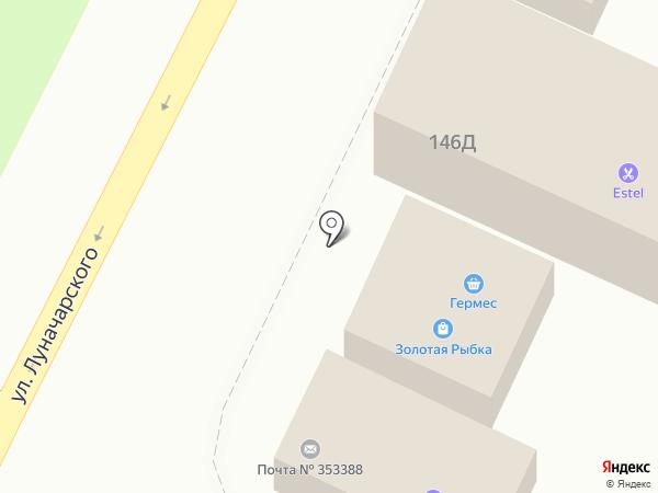 Продуктовый магазин на карте Крымска