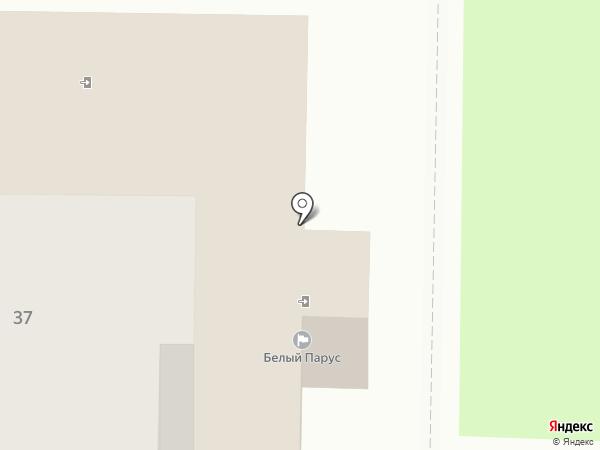 Белый парус на карте Балашихи