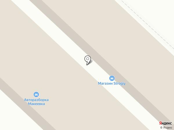 Бажановский на карте Макеевки